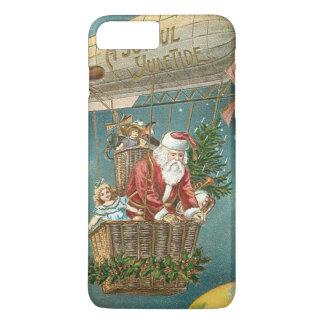 Santa presenta el globo del árbol de navidad de funda iPhone 7 plus