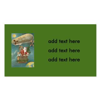 Santa Presents Gifts Christmas Tree Balloon Business Card