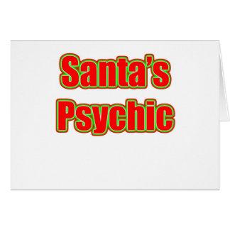 Santa psíquico tarjeta de felicitación