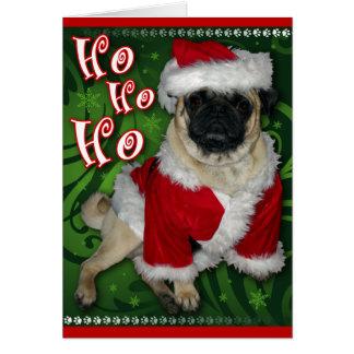 Santa Pug Greeting Card