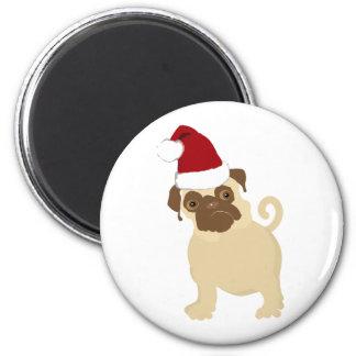 Santa Pug Magnet