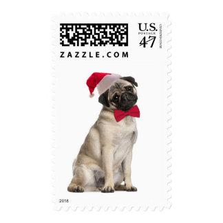 Santa Pug Postage Stamps