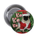 Santa Pug Round Button