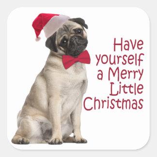Santa Pug Stickers