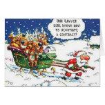 Santa Pulling Reindeer Card