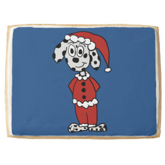 Santa Pup Jumbo Shortbread Cookie