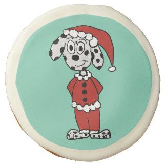Santa Pup Sugar Cookie