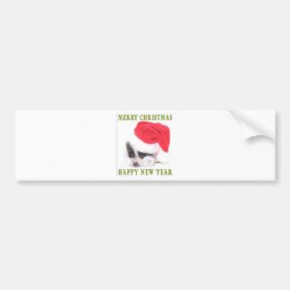 SANTA PUPPY BUMPER STICKER