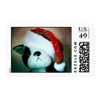 Santa Puppy Stamp
