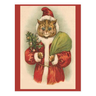 Santa Puss Postcard