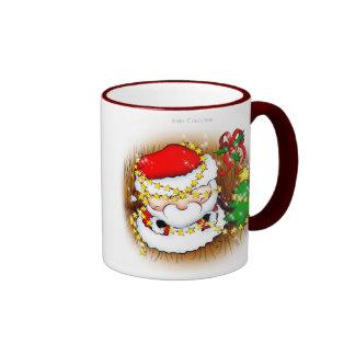 Santa que adorna la taza