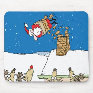 Santa que cae apagado el tejado alfombrilla de ratones