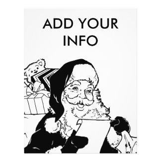 """Santa que comprueba su lista folleto 8.5"""" x 11"""""""