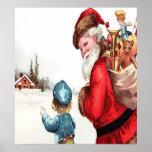 Santa que consigue las direcciones, una escena del poster
