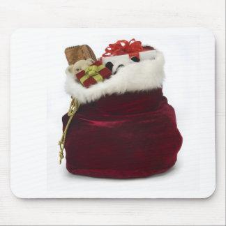 Santa que descarga presentes por el árbol alfombrilla de ratones