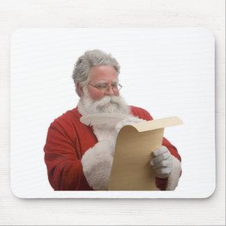 Santa que escribe la lista traviesa y Niza Alfombrillas De Raton