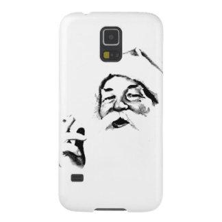 Santa que fuma. Vintage Santa que fuma un Funda Para Galaxy S5