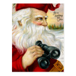 Santa que le mira postal