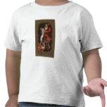 Santa que lee su buena lista de los niños camiseta