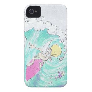 Santa. que practica surf carcasa para iPhone 4 de Case-Mate