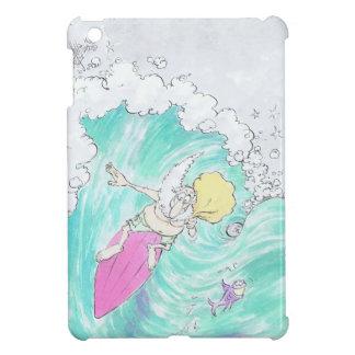 Santa que practica surf en un ipad mini