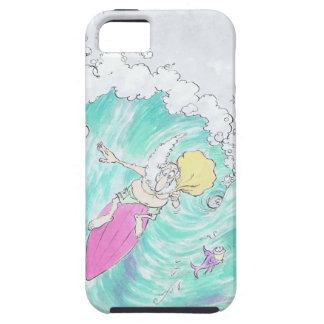 Santa. que practica surf funda para iPhone SE/5/5s