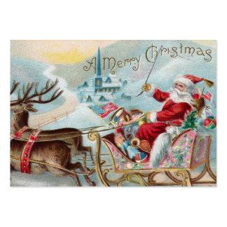 Santa que viene a la ciudad tarjetas de visita grandes