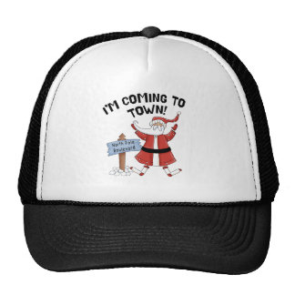 Santa que viene al gorra de la ciudad