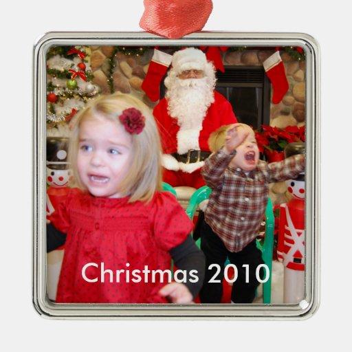Santa que visita, navidad 2010 adorno de reyes