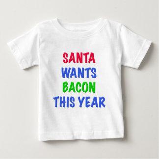 Santa quiere el tocino este año playeras