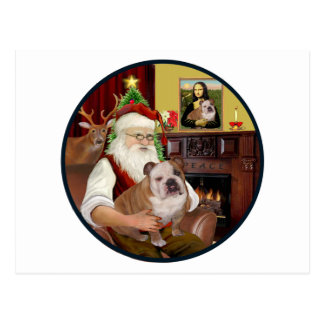 Santa r - Dogo inglés 1 Tarjeta Postal