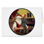 Santa (R) - Kerry Blue Terrier Card