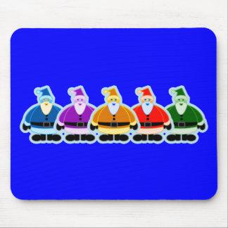 Santa Rainbow Design Mouse Pad