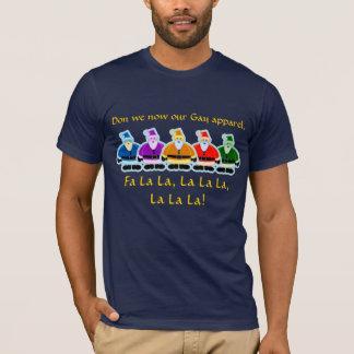Santa Rainbow Gay Apparel Christmas Design T-Shirt