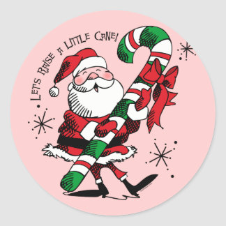 Santa Raising Cane Classic Round Sticker