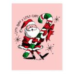 Santa Raising Cane Post Card