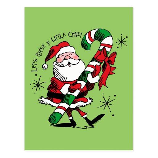 Santa Raising Cane Postcard