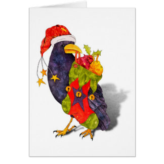Santa Raven Card