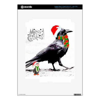 Santa Raven  Christmas gift collection Decals For iPad 3