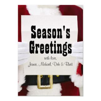 Santa reading letter card