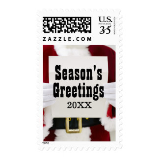 Santa reading letter postage