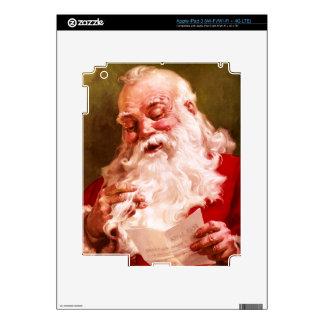 Santa Reading Letter Skins For iPad 3