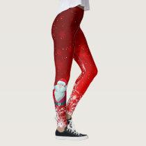 Santa red leggings