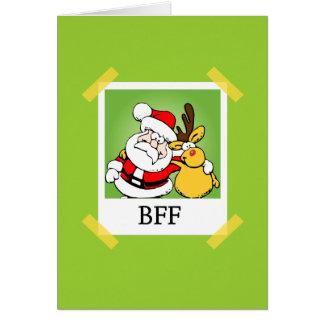 Santa & Reindeer  BFF's Card