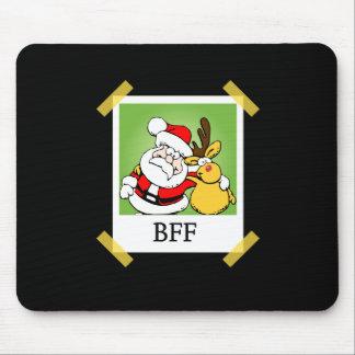 Santa & Reindeer  BFF's Mouse Pad