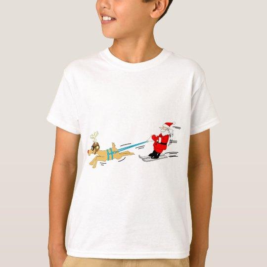 Santa & Reindeer Christmas Gifts T-Shirt