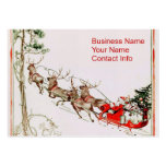 Santa Reindeer in Snow Large Business Cards (Pack Of 100)