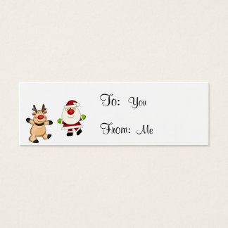 Santa & Reindeer Mini Business Card
