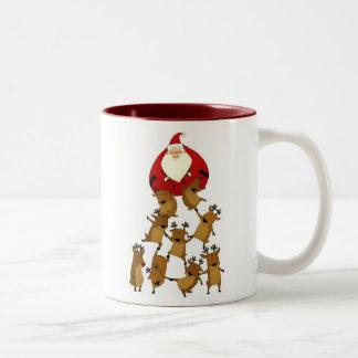 Santa & Reindeer Mug