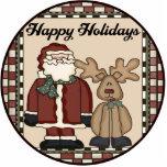 Santa Reindeer Ornament Photo Cutout